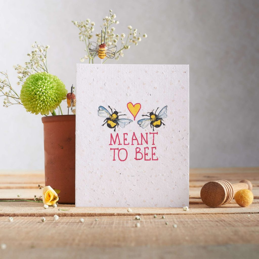 Green Manatee how to create less waste for your wedding Seed paper stationery from Hannah Marchant